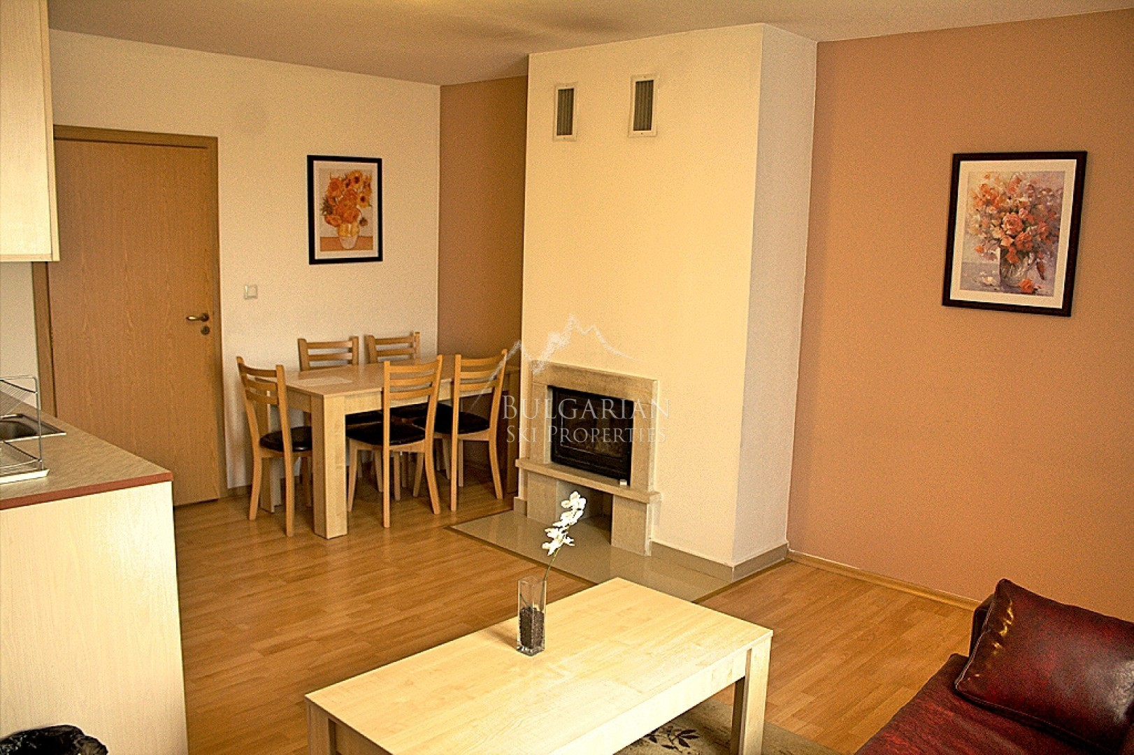 Pirin River Ski & Spa, Bansko: two-bedroom apartment with fireplace for sale
