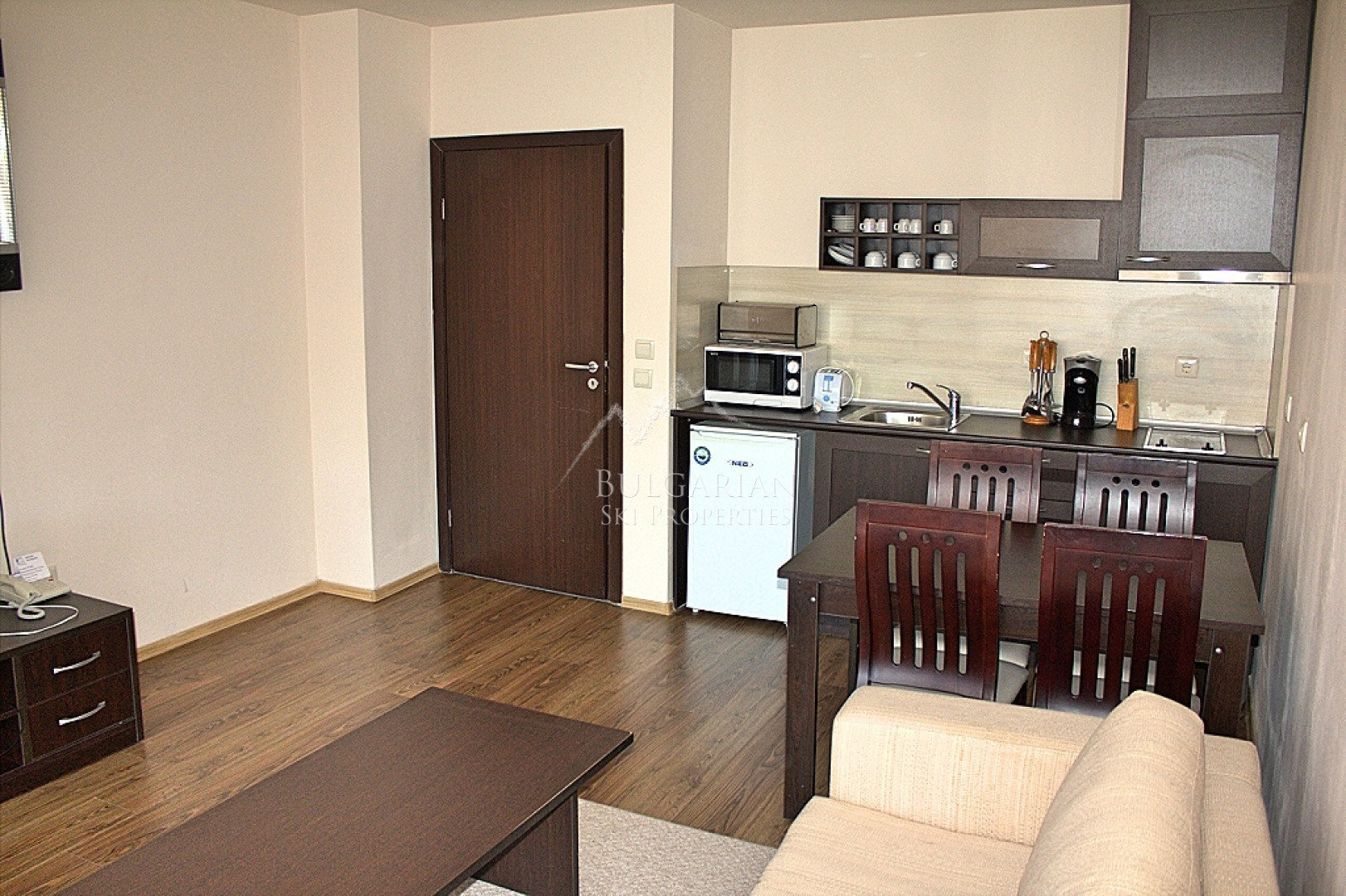 Furnished one-bedroom apartment for sale in Bansko Royal Towers