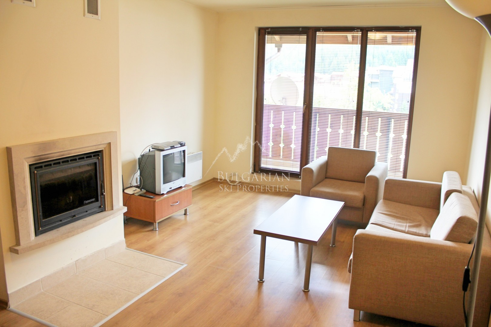 Bansko, New Inn: furnished one-bedroom apartment with fireplace for sale