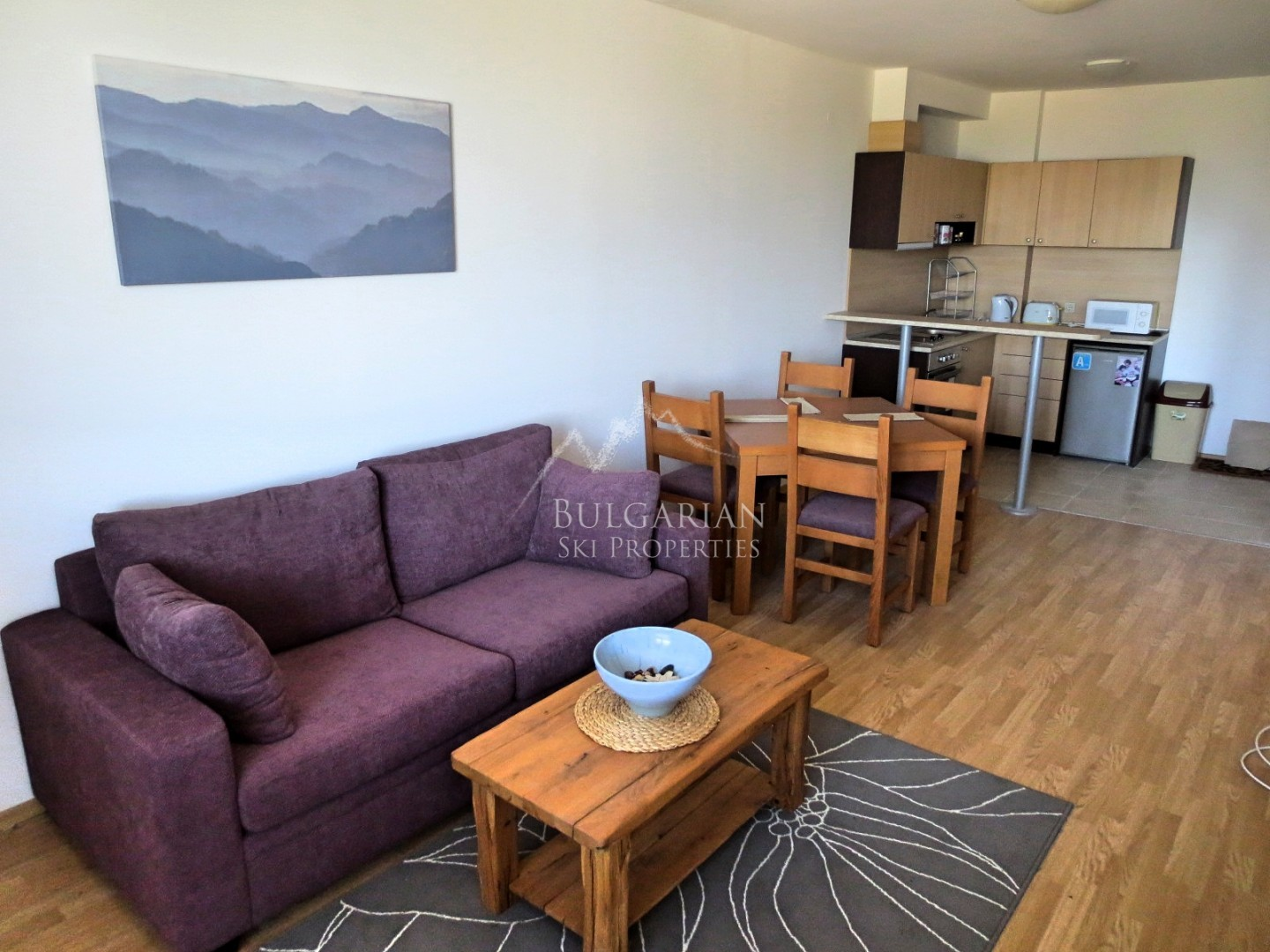 Bansko, Aspen Valley: cozy furnished one-bedroom apartment for sale