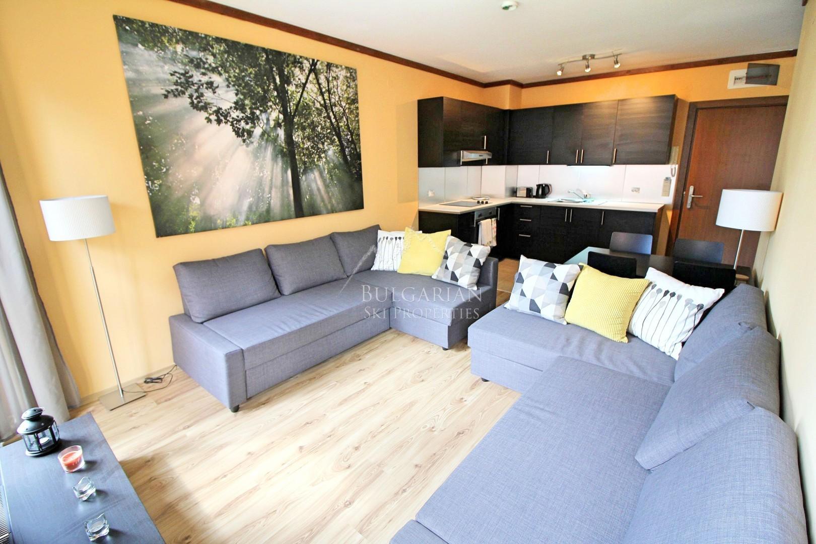 Стилно обзаведен двустаен апартамен за продажба в Свети Иван Ски и Спа, Банско