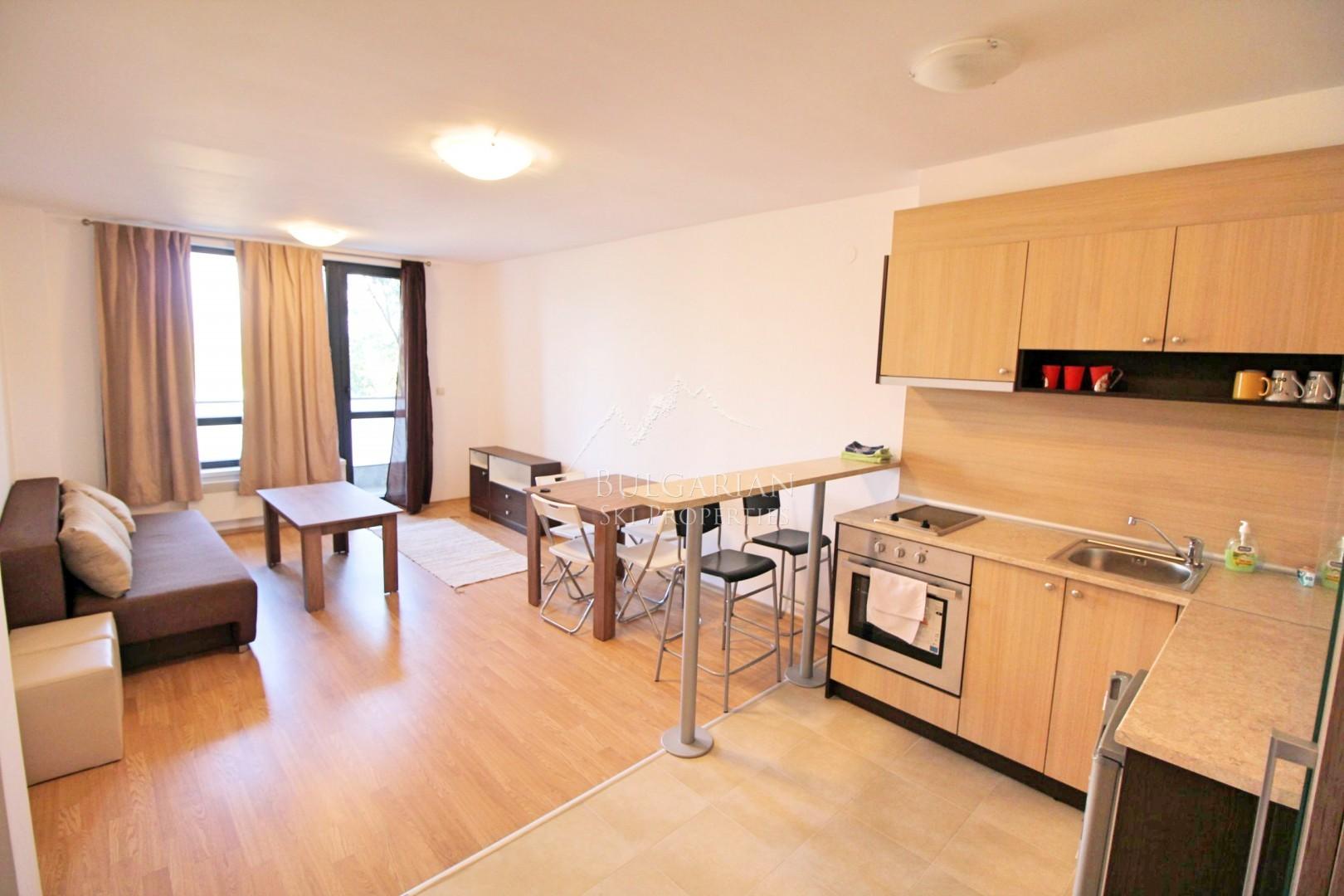 Аспен Хайтс, Банско: Обзаведен двустаен апартамент за продажба