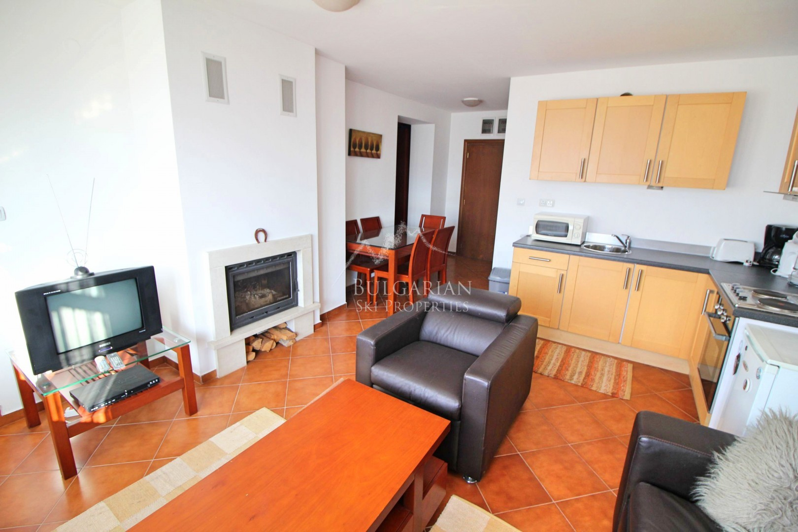 Bansko: two-bedroom apartment for sale near the ski lift