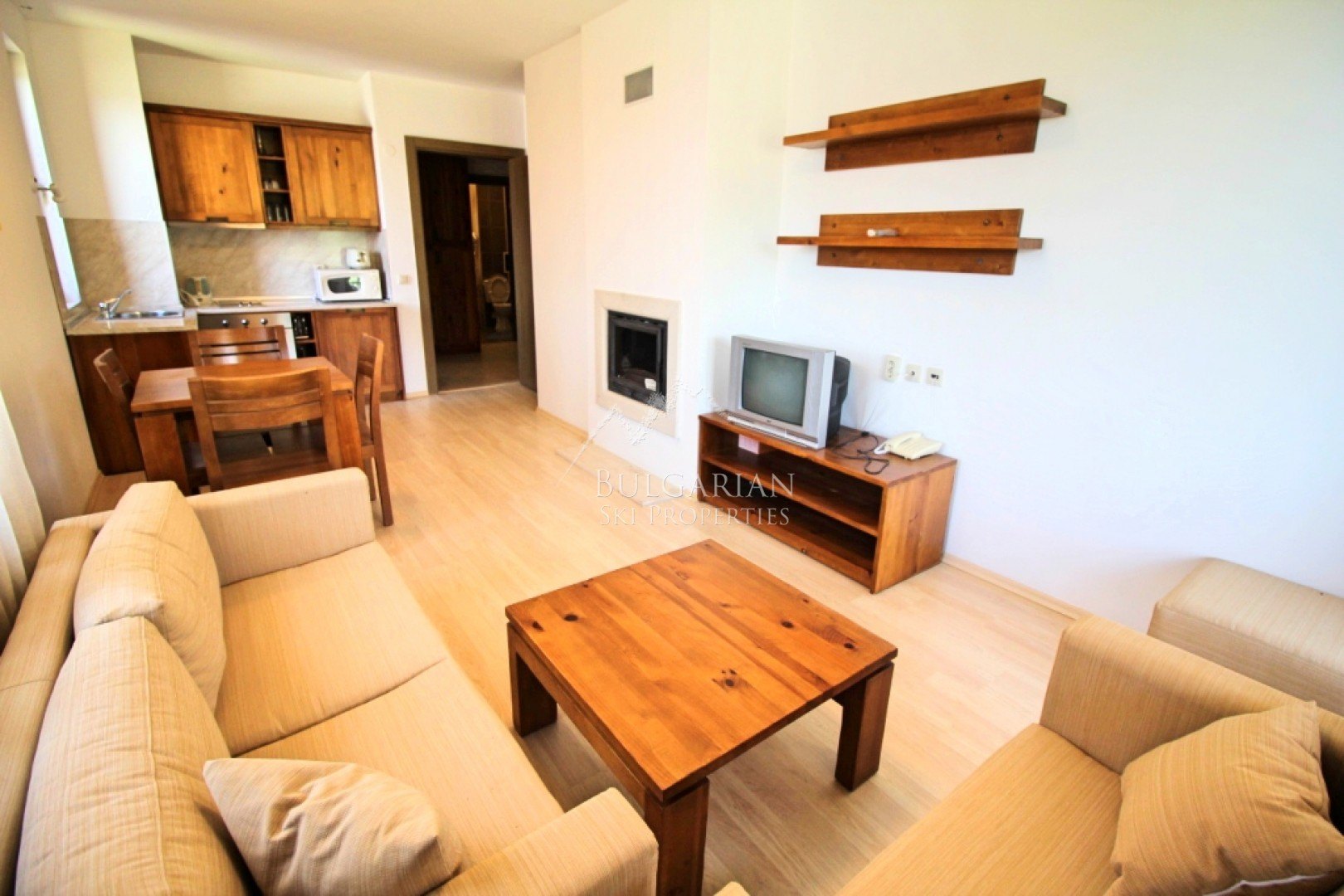 Bansko, St. John Hill: furnished one-bedroom apartment with mountain views for sale