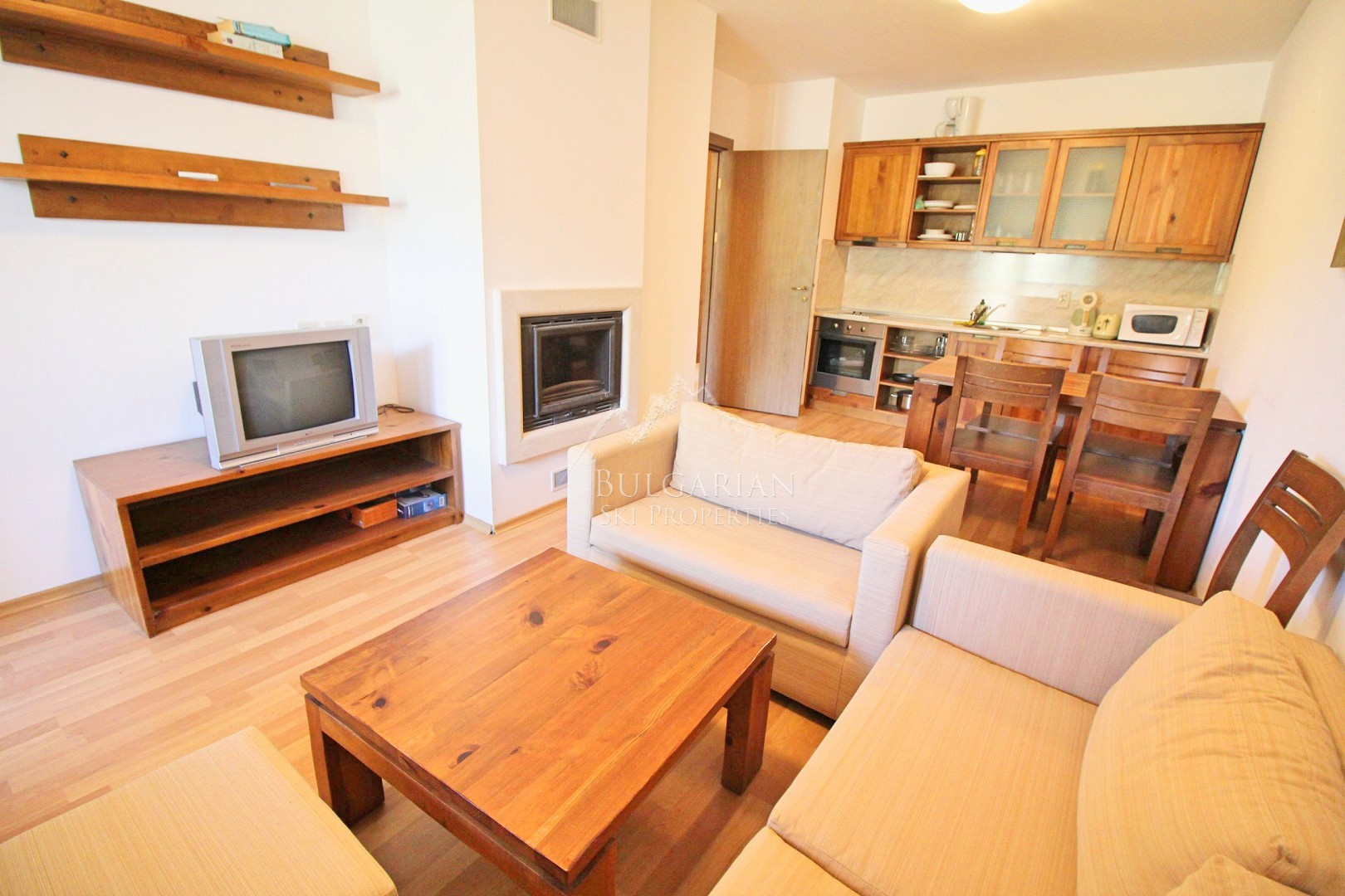Spacious two-bedroom apartment for sale in St John Hill, Bansko