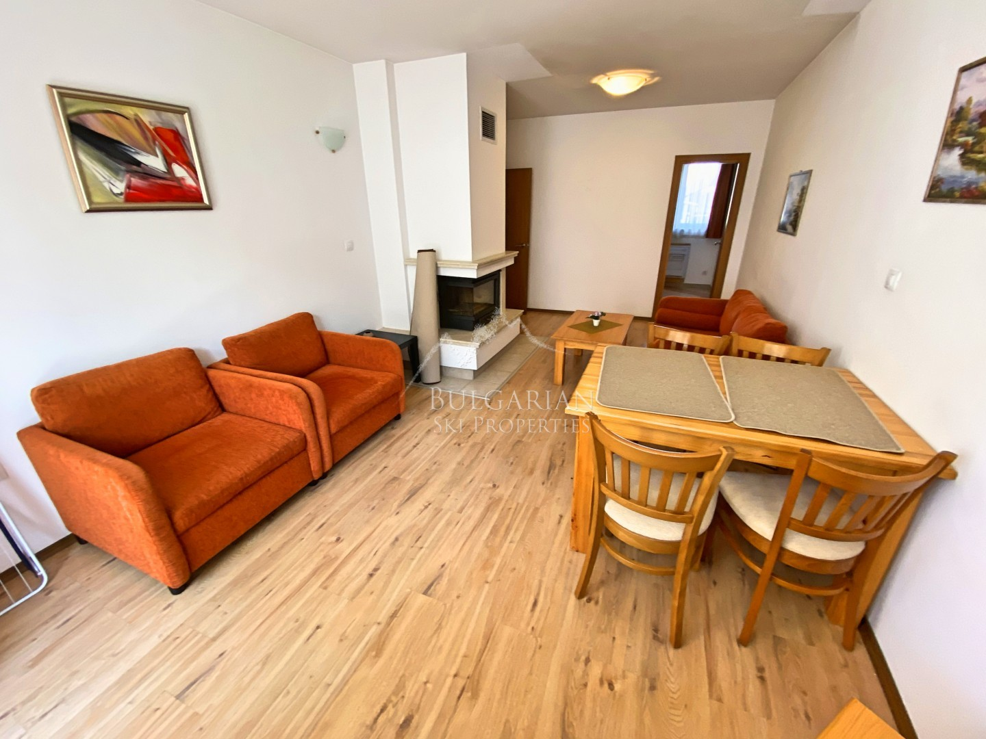 Furnished one-bedroom apartment for sale next to the ski lift in Bansko