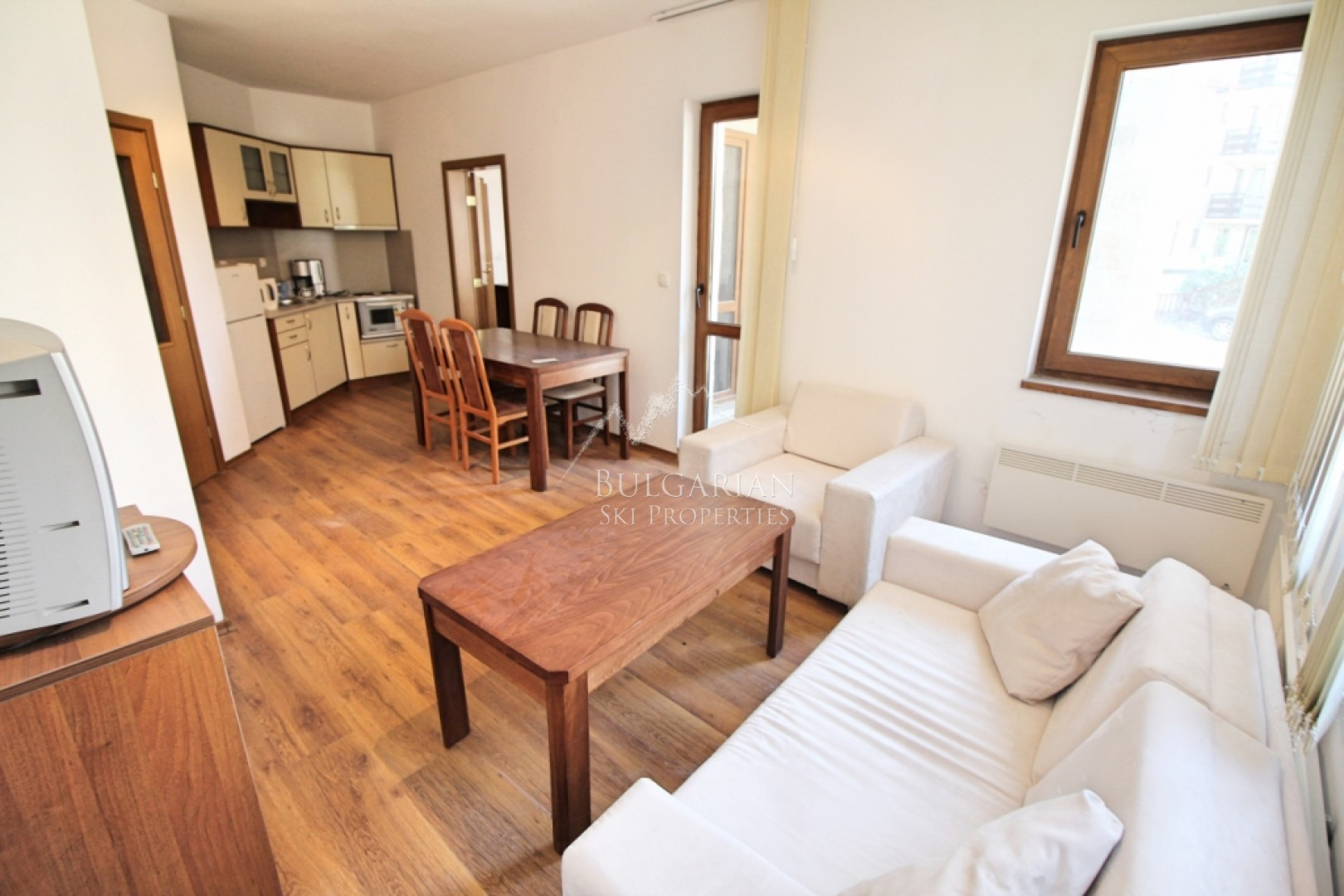 Bansko: furnished two bedroom apartment for sale close to the ski lift